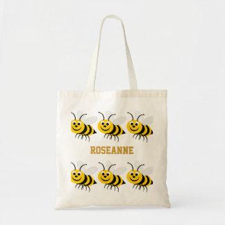 Honig-Bienen-Tasche addieren Namen Budget Stoffbeutel