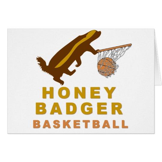 Honig-Dachs-Basketball Grußkarte