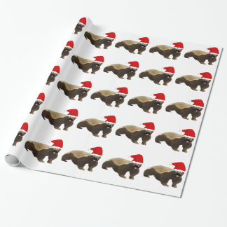 Honig-Dachs-WeihnachtsPackpapier Geschenkpapier