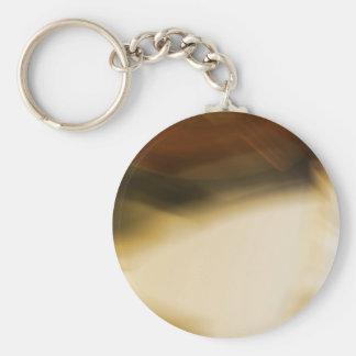 Honig tonte braunen abstrakten Entwurf Standard Runder Schlüsselanhänger
