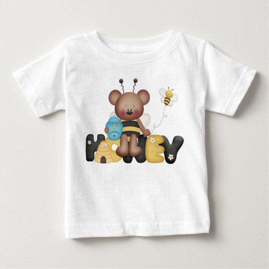 Honigbienen-Bärn-Gelb-schwarze Bienen-Honig Baby T-shirt