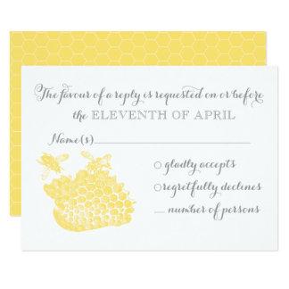 Honigbienen-Hochzeits-Wartekarte 8,9 X 12,7 Cm Einladungskarte