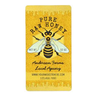 Honigbienen-Honig-Glas-Bienenhaus beschriftet |