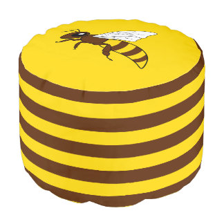 Honigbienen-runder Puff Hocker
