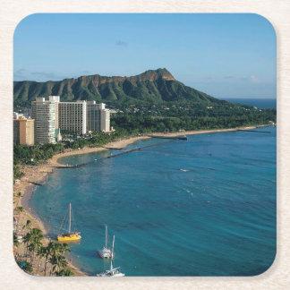 Honolulu Hawaii Rechteckiger Pappuntersetzer
