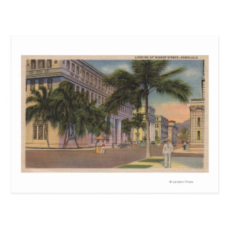Honolulu, HIView des Bischofs St.Honolulu, HI Postkarte