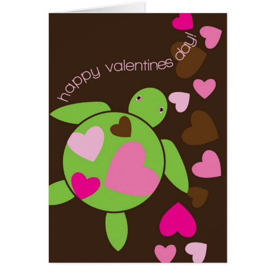 Honu Herz-Valentinstag-Karte Karte