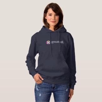 Hoodie der Frauen die Marine