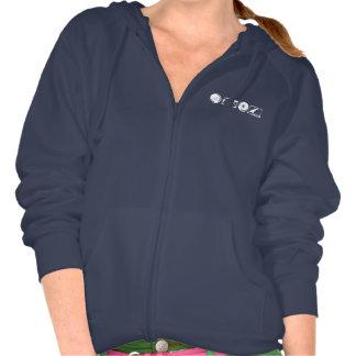 Hoodie der Frauen Zip- weißes Logo