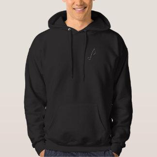hoodie - la note de musique (huitième) pull avec capuche