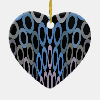 Hoopla-weiche blaue Herz-Verzierung Keramik Herz-Ornament