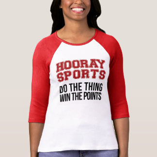 Hooray tut Sport den Sache-Gewinn die Punkte - Rot T-Shirt