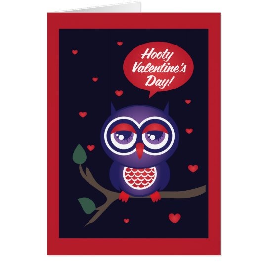 Hooty Valentinstag Grußkarte