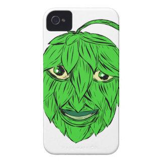 Hopfen bemannen das Zeichnen iPhone 4 Cover