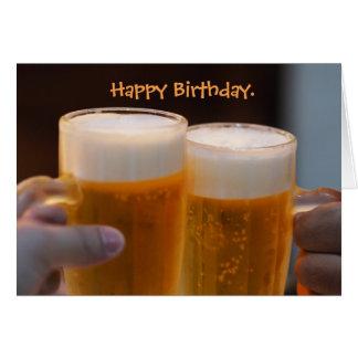 Hopfenreiche Beerthday Bier-Geburtstags-Karte Karte