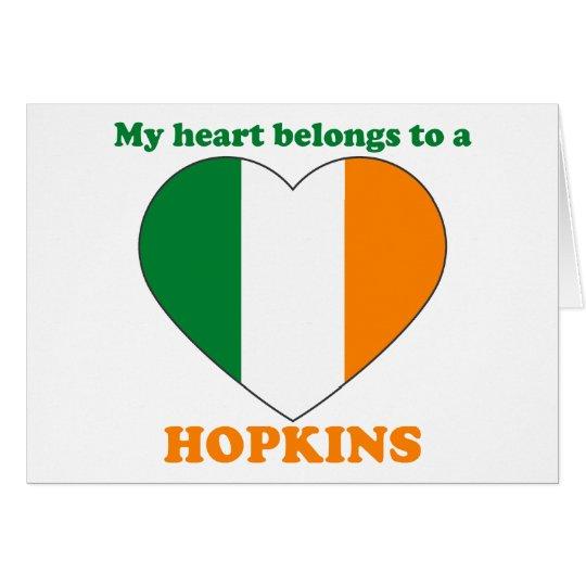Hopkins Grußkarte