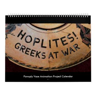 Hoplites! Grieche am Kriegs-Kalender Abreißkalender