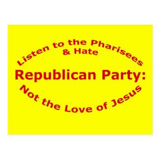 Hören Sie auf die Pharisees Postkarte