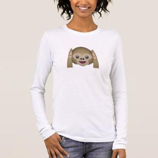 Hören Sie keinen schlechten Affen Emoji Langärmeliges T-Shirt