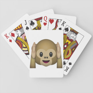 Hören Sie keinen schlechten Affen - Emoji Spielkarten