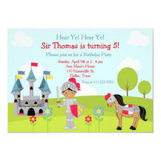 Hören Sie Ritter-Geburtstags-Party YE 12,7 X 17,8 Cm Einladungskarte