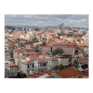 Horizon de dessus de toit de Lisbonne Carte Postale