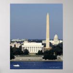 Horizon de Washington DC avec le capitol des USA c Affiche
