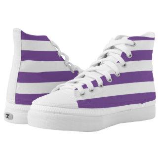 Horizontale lila Streifen Hoch-geschnittene Sneaker