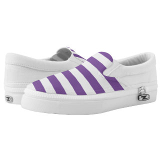 Horizontale lila Streifen Slip-On Sneaker