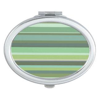 Horizontale Streifen des Olivgrüns Schminkspiegel