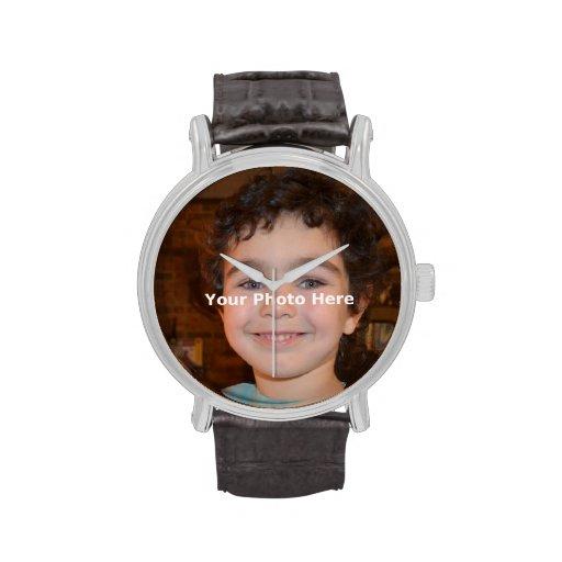 Horizontaler 4 Zoll x 6 Zoll - Ihr Foto Armbanduhr