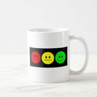 Horizontaler schwermütiger Stoplight Kaffeetasse