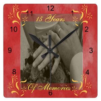 Horloge Carrée Anniversaire de mariage