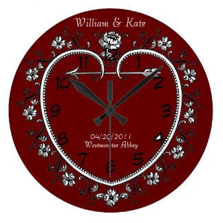 horloge commémorative de cadeau de date de mariage
