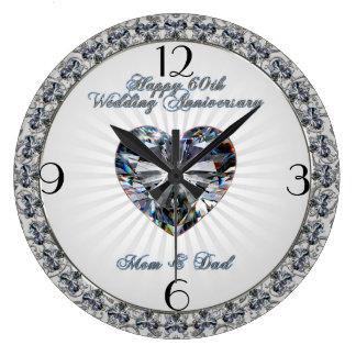 Horloge d'anniversaire de mariage de coeur