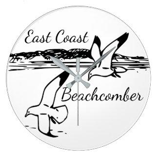 Horloge de vague déferlante de Côte Est de plage