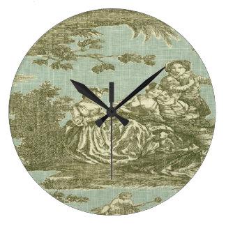 Horloge française victorienne d'impression de Toil