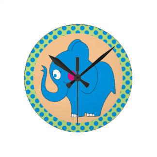 Horloge mignonne d'enfants de pois d'éléphant