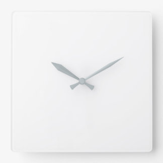 Horloge murale carrée - mains grises