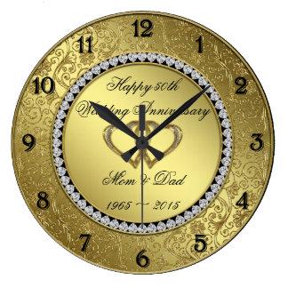 Horloge murale classique d'anniversaire de mariage
