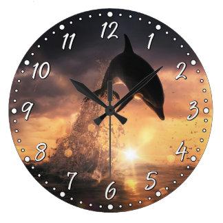 Horloge murale de dauphin