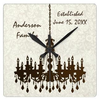 Horloge personnalisée de lustre établie par