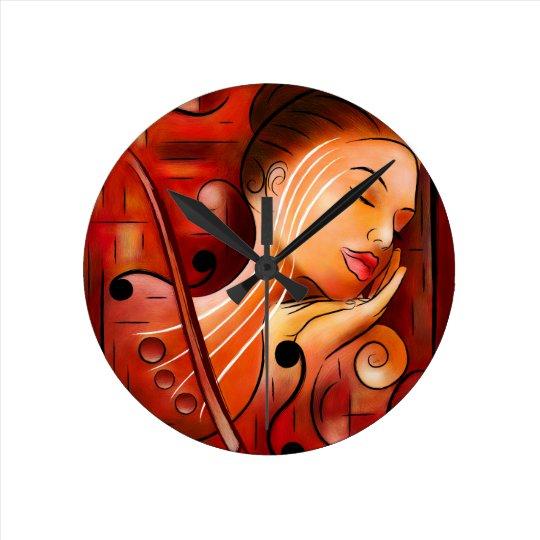 Horloge Ronde Casselopia - rêve de violon