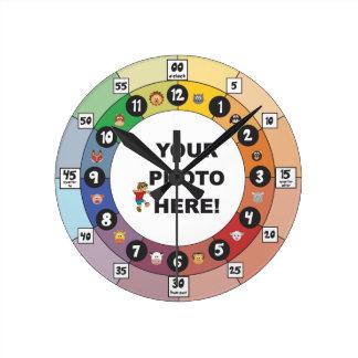 Horloge Ronde Étude de l'horloge pour des enfants en bas âge et