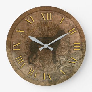Horloge scottish deerhound große wanduhr