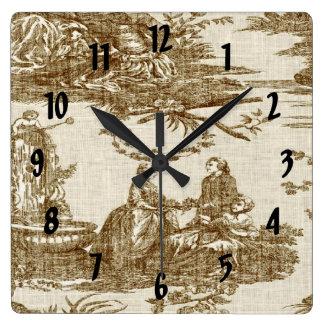 Horloge victorienne vintage d'impression de Toile