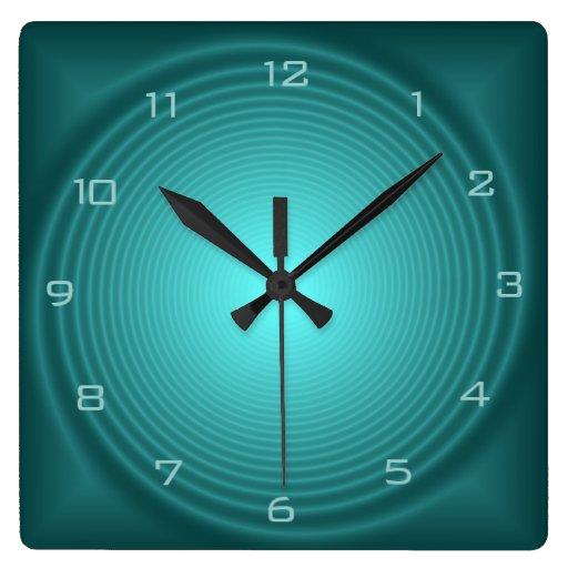 Horloges murales model es par design lumineuses p zazzle for Horloge lumineuse