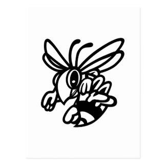 Hornissen-Kontur Postkarte