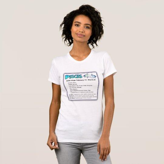 Horoskop-Tierkreis-Zeichen-Shirt Fische T-Shirt