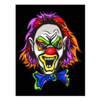 Horrid schlechter Clown Postkarte